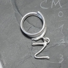 Load image into Gallery viewer, PERSONALISED 925 SILVER RING handcrafted ring | SILVER JEWELLERY