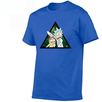 2019 Brand Euro 100% Cotton,Men's Anime Rick and Morty Printing T-shirt Summer New Arrival Streewear Tshirt Homme Women Tee