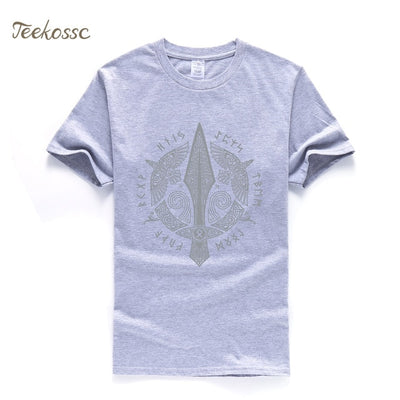 Odin Vikings T Shirt Men Scandinavian Runes Valhalla Tshirt Mens 2018 Summer Tops Tee Cool Streetwear TV Show T-Shirt For Fans