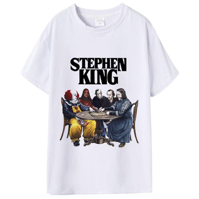 New Arrival Stephen King It Movie Tshirt Summer Men Stephen King Print T Shirt Casual Cool It Stephen King T-shirt Male's Tops