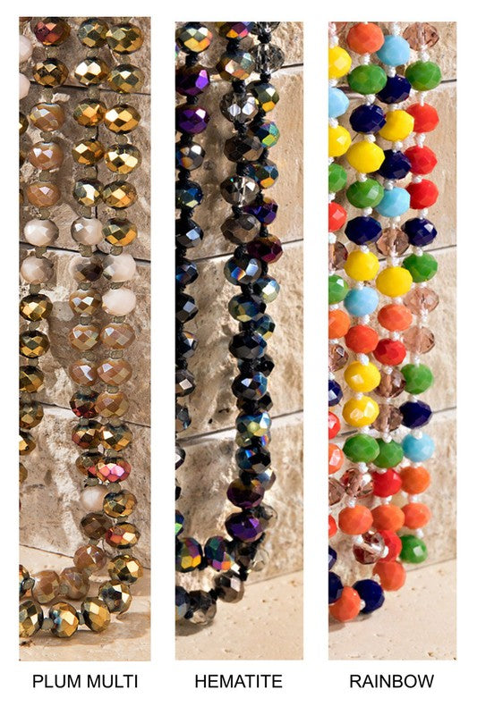 Dazzling Glass Bead Necklace