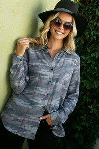 Holly Camo Fleece Lined Flannel