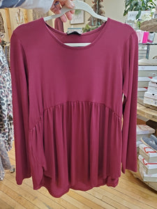 Burgundy Dolly Top