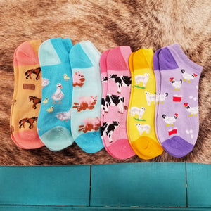 Animal Short Socks
