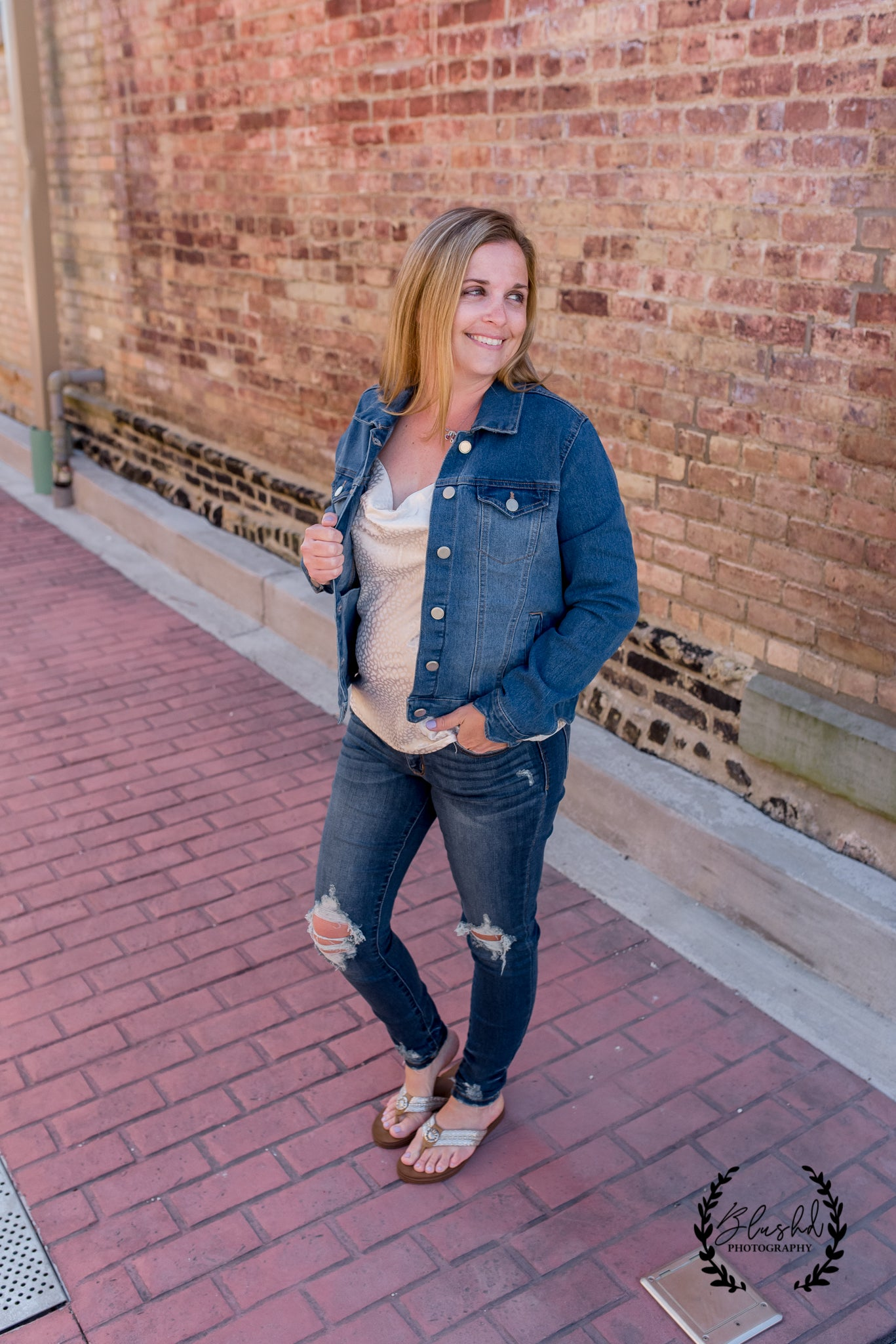Scalloped Edge Jean Jacket