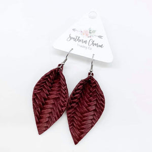 Braided Leather Earrings