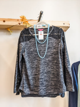Charcoal Fall in Love with the details Top
