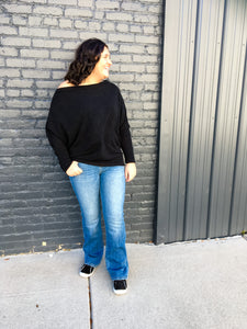 Slouchy Shoulder Sweater