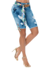 Dolled Up Push Up Bermuda Short - Jeans 2 Die 4