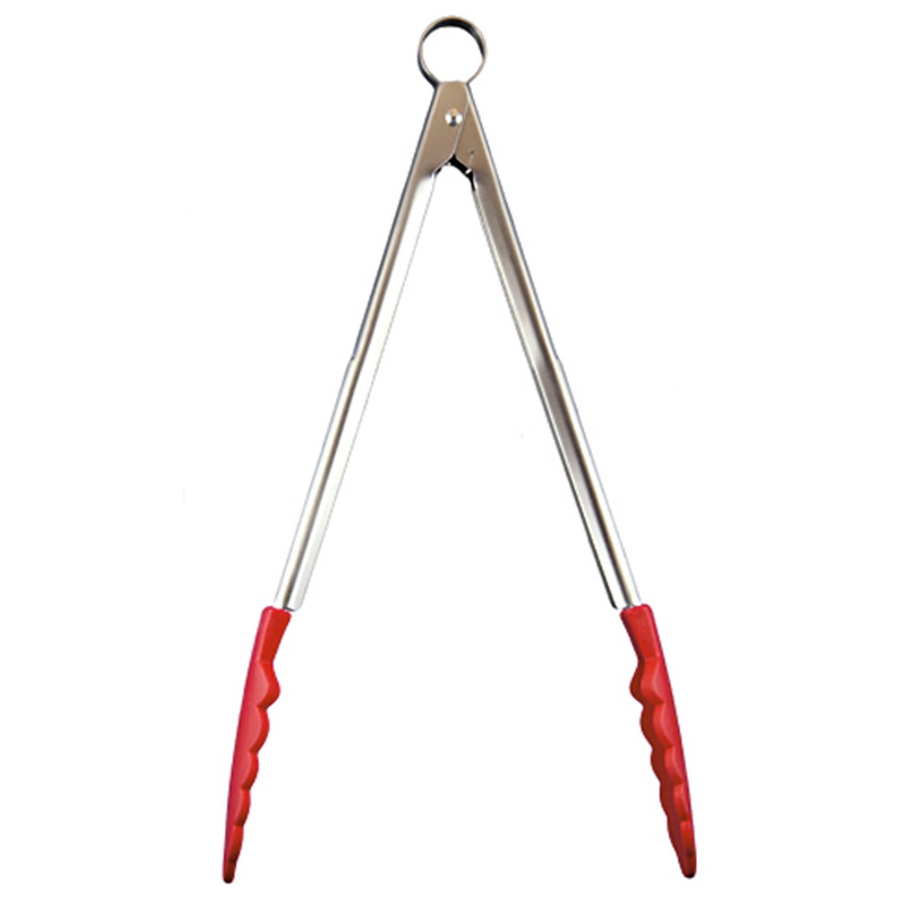 Cuisipro Red Silicone Locking Tongs 9.5""