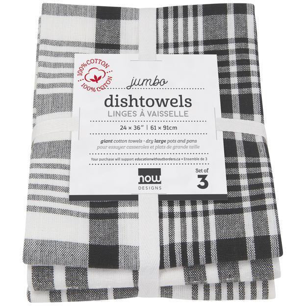 Danica Tea Towel (Set of 3) Black