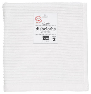 Danica Dish Cloth Set of 2 White