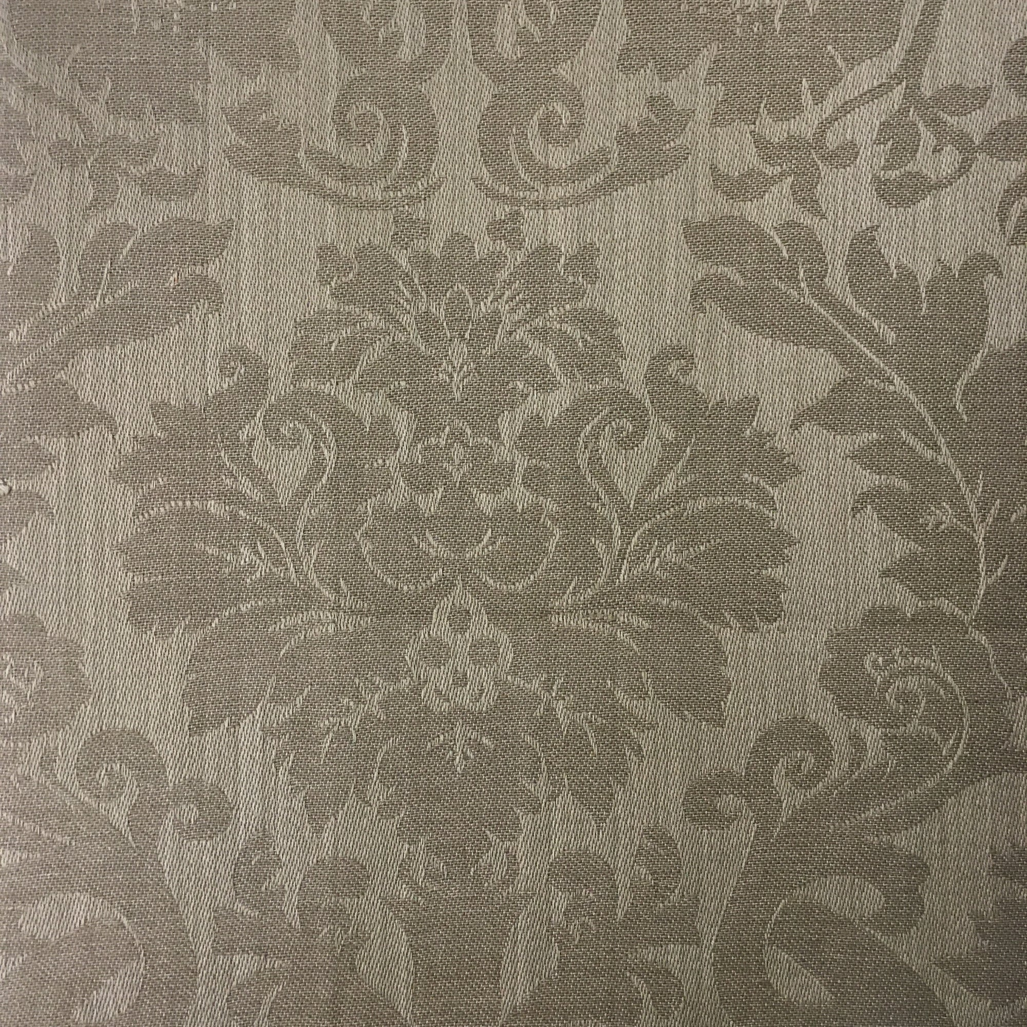 "Mahogany Tablecloth 60x90"" Damask Taupe"