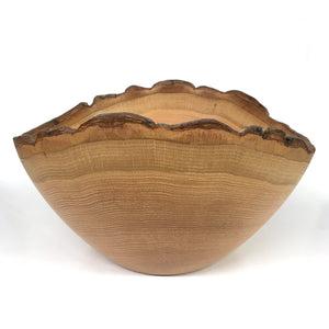 Sbrocca Salad Bowl #6 Oak with Bark Rim