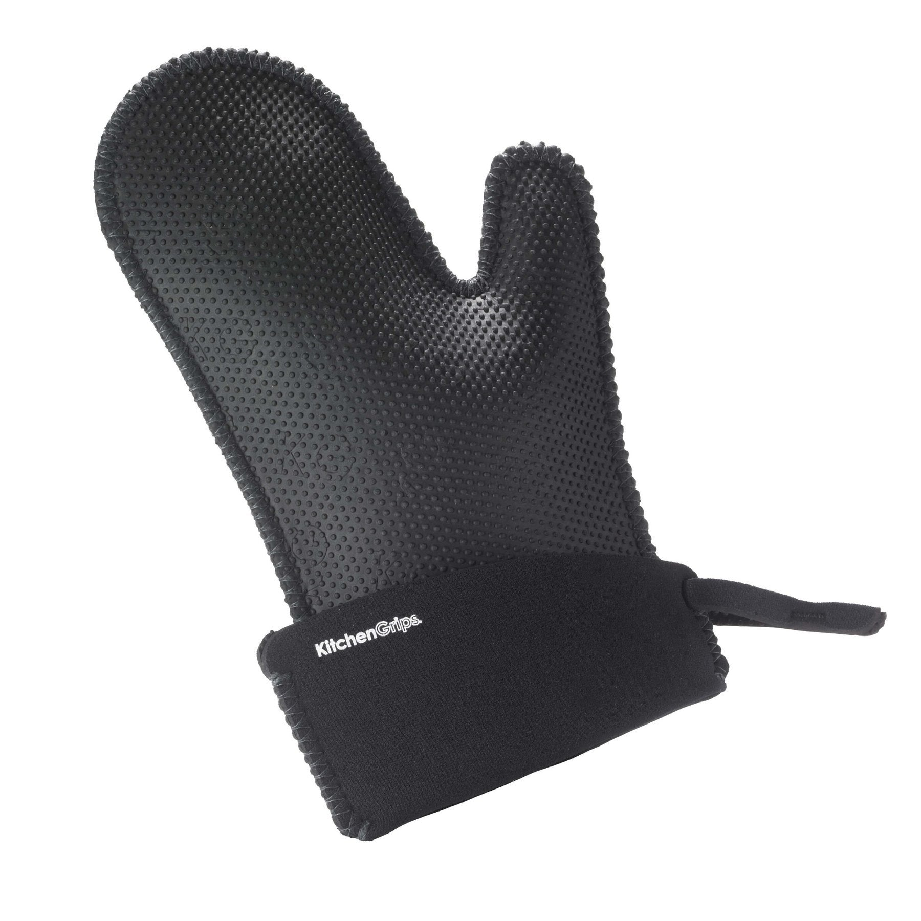 Kitchen Grips Oven Mitts Large Black