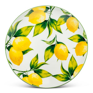 "Abbott 8"" Cake Plate Lemon Tree"
