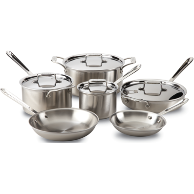 All-Clad Set d5 Brushed Stainless Steel 10-Piece Set