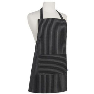 Danica Apron Junior Black Pinstripe