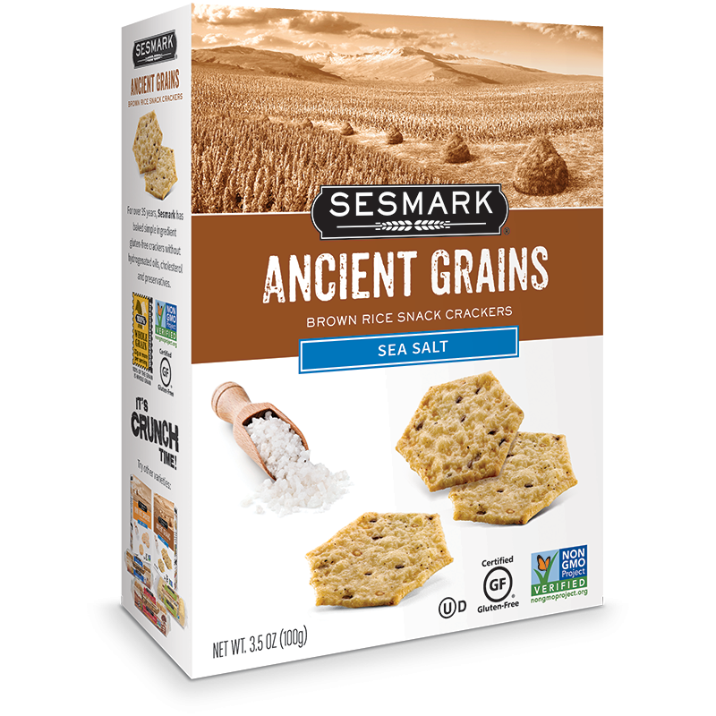Sesmark Crackers Ancient Grains - Sea Salt