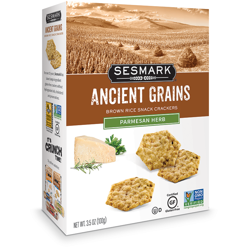 Sesmark Crackers Ancient Grains - Parmesan Herb