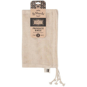 Now Designs Produce Bags Mesh Natural (Set of 3)