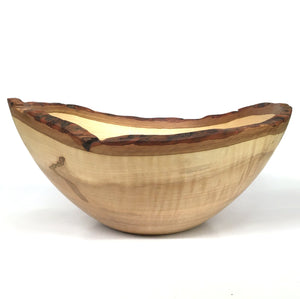 Sbrocca Salad Bowl #13 Maple with Bark Rim