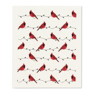 Swedish Dish Cloth Set - Cardinals
