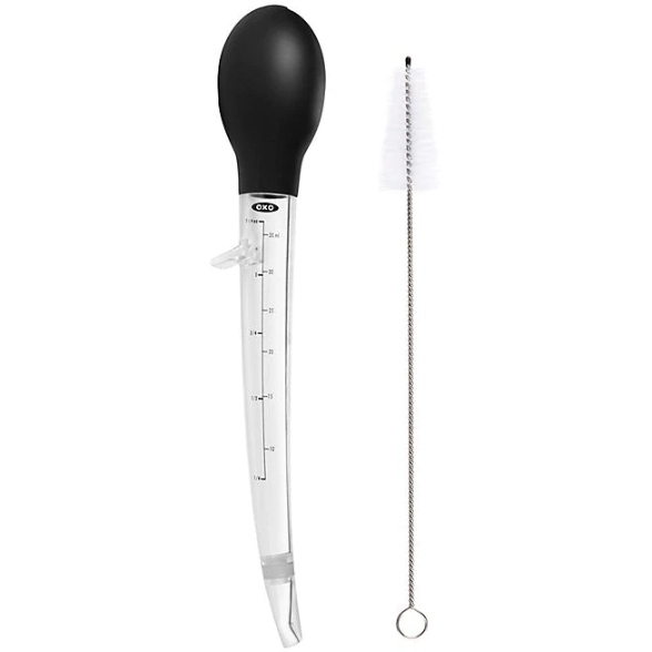OXO Poultry Baster with Cleaning Brush