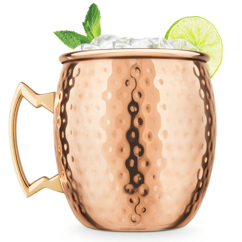 Final Touch Hammered Finish Moscow Mule Mug