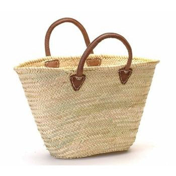 Provence Market Leather Handle Basket