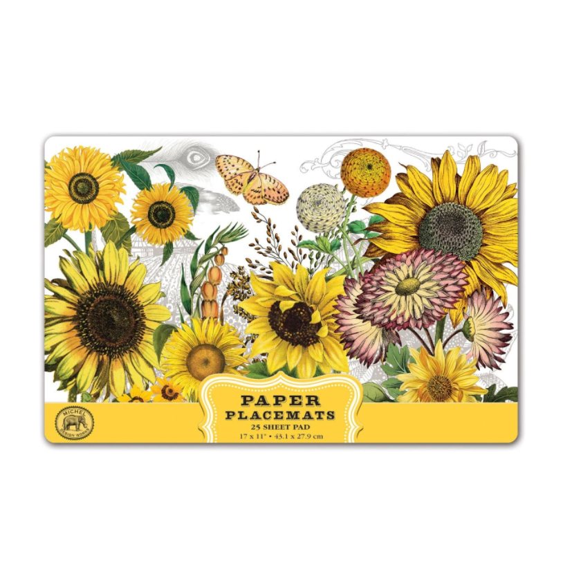 Michel Design Works Placemats Sunflower