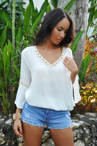 Antibes Witte Blouse