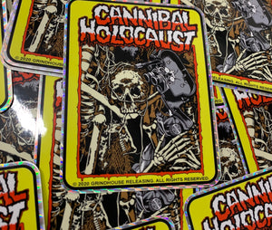 Cannibal Holocaust t-shirts stickers and blu-ray
