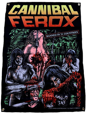 CANNIBAL FEROX Tapestry: Cannibal Feast