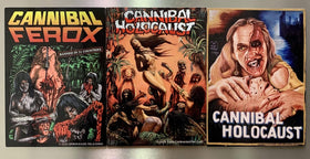 CANNIBAL HOLOCAUST & CANNIBAL FEROX jumbo magnet set (3 pcs)