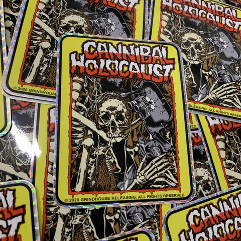 PATAC CANNIBAL HOLOCAUST prismatic sticker: Skeletal Remains -LTD/200- (AVAILABLE 2/14/2020)
