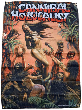 CANNIBAL HOLOCAUST Tapestry: Banned Painting