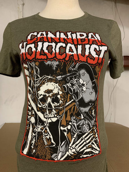 PATAC Clothing CANNIBAL HOLOCAUST Women's T-Shirt: Skeletal Remains