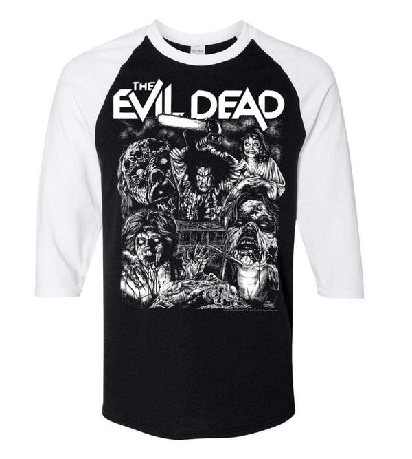 EVIL DEAD 3/4 Sleeve Shirt : '2020 Drive-In Tour' Glow in the Dark ink