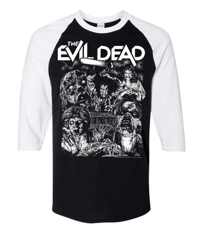 EVIL DEAD SHIRT Clothing EVIL DEAD 3/4 Sleeve Shirt : '2020 Drive-In Tour' Glow in the Dark ink