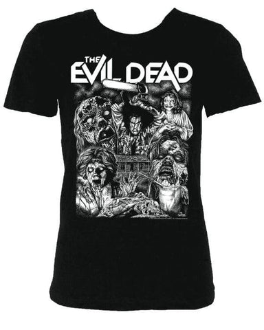 PATAC Clothing EVIL DEAD Women's T-shirt : '2020 Drive-In Tour' Glow in the Dark ink
