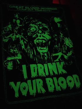 I DRINK YOUR BLOOD Women's T-shirt : Glow in the Dark One-Sheet