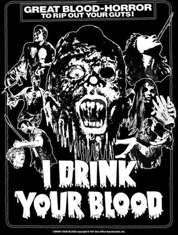PATAC Clothing I DRINK YOUR BLOOD Women's T-shirt : Glow in the Dark One-Sheet