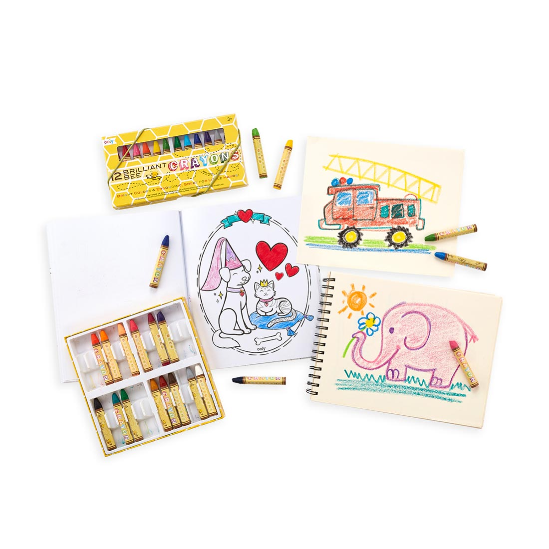 Brilliant Bee Crayon Set