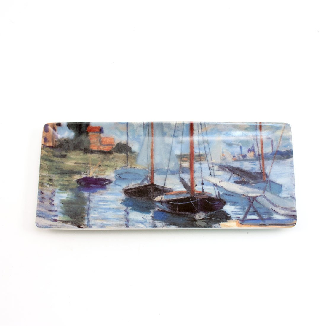 Claude Monet Sailboats on the Seine Narrow Tray