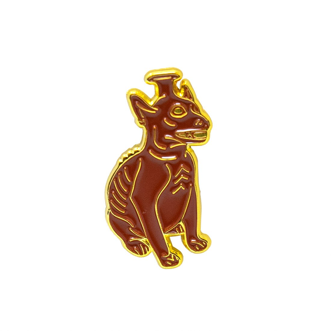 Seated Colima Dog Enamel Pin