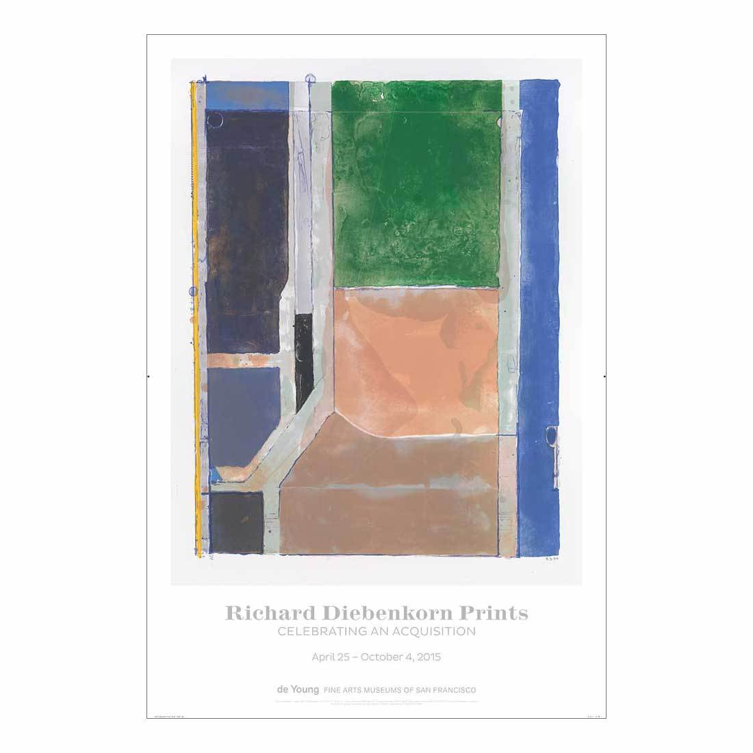 Richard Diebenkorn Prints: Celebrating an Acquisition Exhibition Poster