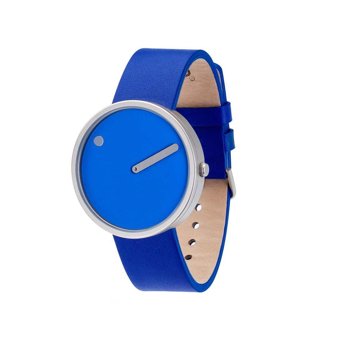 Picto Blue Leather Watch