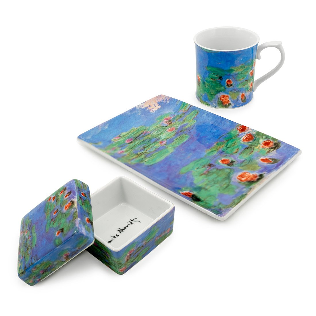Claude Monet Water Lilies Porcelain Box