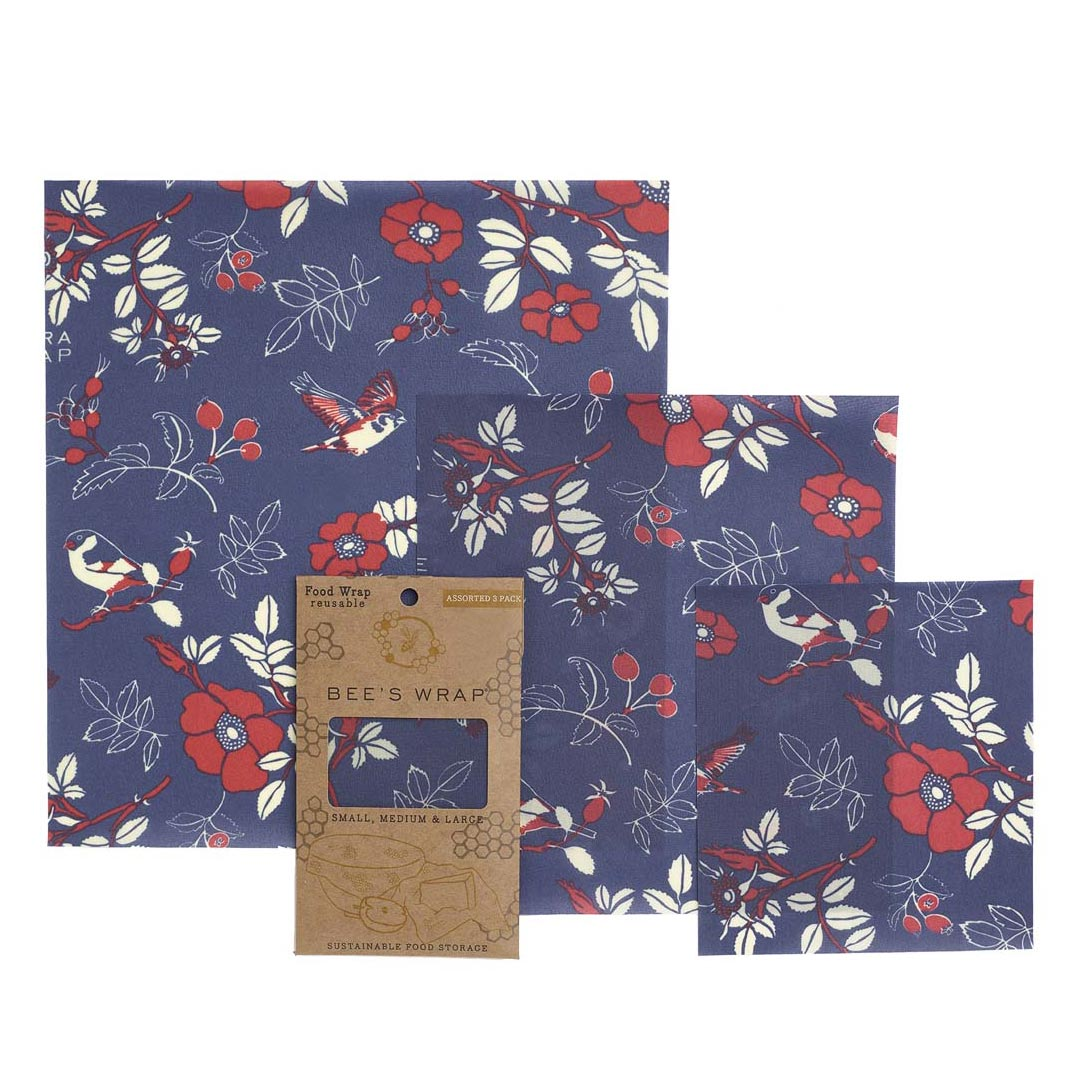 Bee's Wrap Botanical Blue Three-Pack